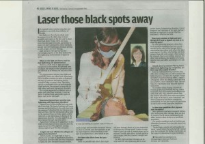 Laser those black spots away