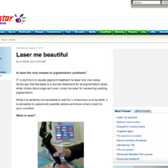 Laser Me Beautiful~ Is laser the only answer to pigmentations?